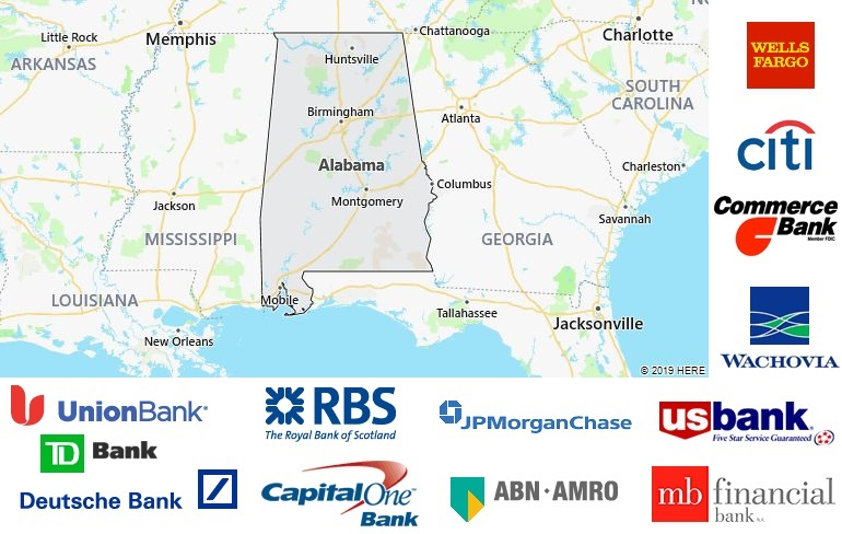 List of All Banks in Alabama