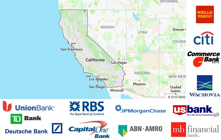 List of All Banks in California