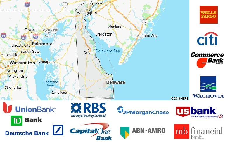 List of All Banks in Delaware