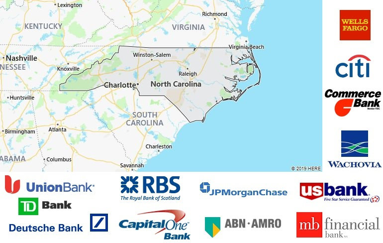 List of All Banks in North Carolina