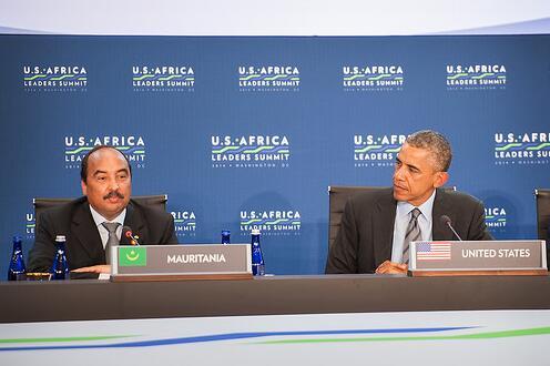 Abdel Aziz and Barack Obama