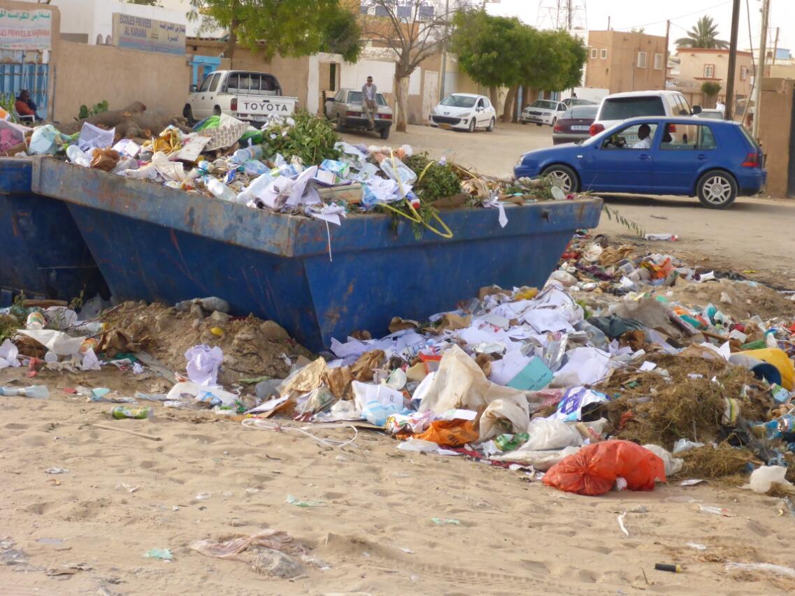 Garbage collection point in Nouakchott