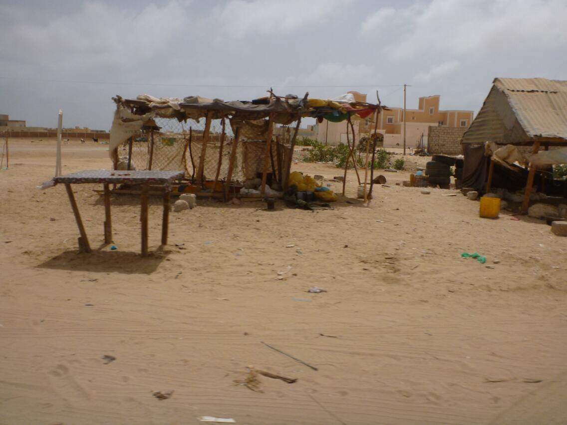 Huts in Nouakchott Mauritania