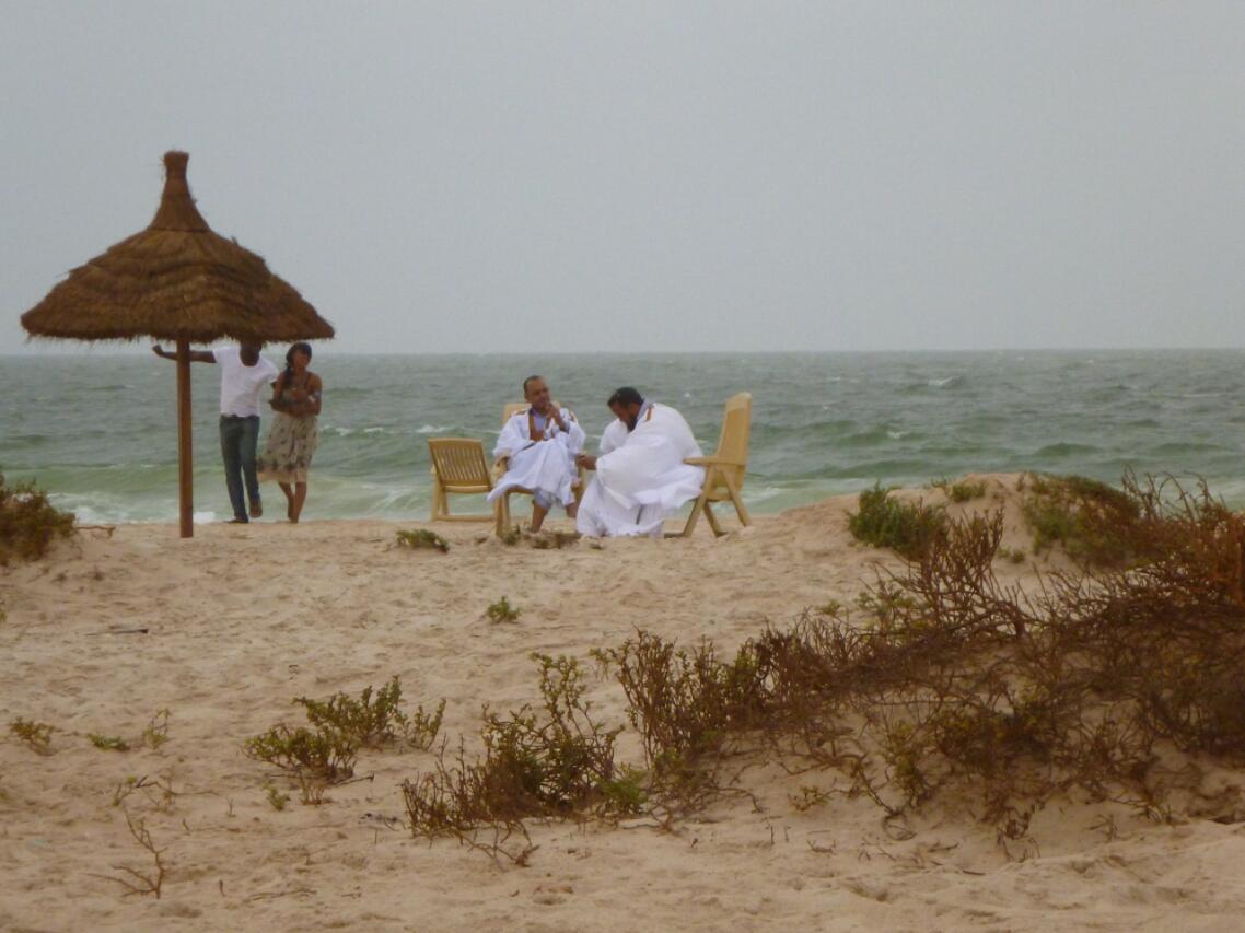 On the beach of Nouakchott Mauritania