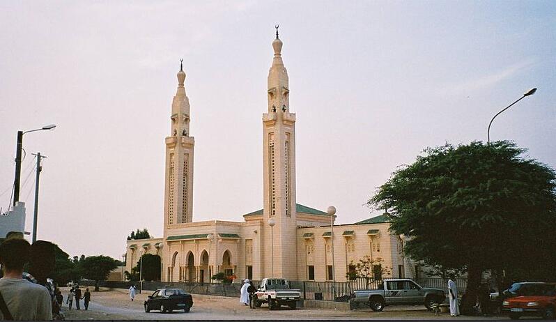 Saudi mosque in Nouakchott Mauritania