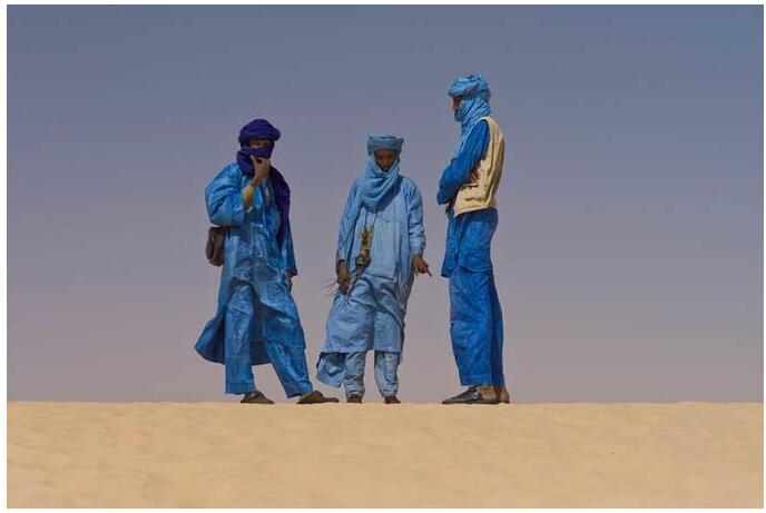 The Tuaregs are often referred to as the blue people